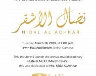 The Grand Dame of  Lebanese theatre Nidal Al Achkar